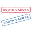 south dakota textile stamps vector image vector image
