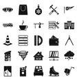 strong house icons set simple style vector image vector image