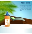 Summer health concept pool and sunscreen vector image vector image