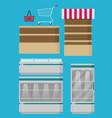 supermarket set for design flat vector image vector image