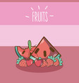 sweet fruits cartoons vector image vector image
