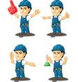 Technician or Repairman Mascot 13 vector image vector image