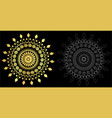 thai art style ornament black color and out line vector image vector image