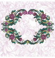 Vintage floral frame and decorative seamless vector image vector image