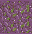 vintage plum seamless pattern vector image vector image