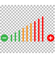 volume adjustment icon volume adjustment on vector image