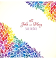 Watercolor painted rainbow colors invitation vector image vector image