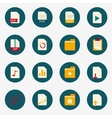 Web flat document icons with folder vector image vector image