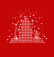 xmas postcard with firtree vector image vector image