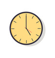 yellow clock isolated on vector image vector image
