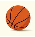basketball cartoon style vector image