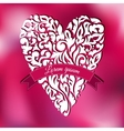White lace ornamental heart Greeting card vector image