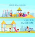 playground horizontal banners set