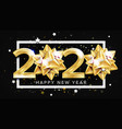 2020 happy new year party elegant banner vector image