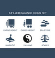 6 balance icons vector image vector image