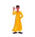 a young guy in a traditional indian dress clothes vector image