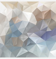 abstract blue and beige polygon background vector image vector image