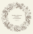 abstract floral light vintage round composition vector image vector image