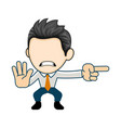 angry businessman pointing in a direction flat vector image