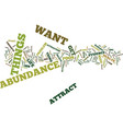 attract abundance text background word cloud vector image vector image