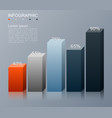 bar chart infographics elements vector image vector image
