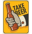 beer in a retro style vector image vector image