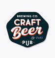 beer pub logotype brewing company emblem vector image