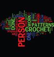 beginner crochet text background word cloud vector image vector image