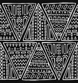 black and white handmade tribal seamless pattern vector image