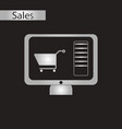 black and white style icon online buying vector image vector image