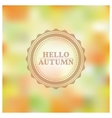 Blurred autumn background vector image
