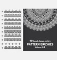 brush collection with mandala vector image vector image