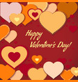 card with decorative hearts for valentines day vector image