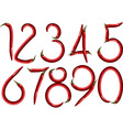 chili numbers vector image vector image