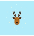 Christmas deer Icon in flat style vector image vector image