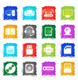 computer equipment icons vector image vector image