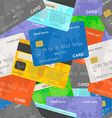 Credit card seamless background vector image