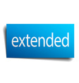 extended blue paper sign on white background vector image vector image
