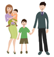 family with two childs vector image
