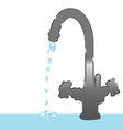 faucet and droplets vector image