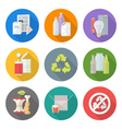 flat design different waste recycle separate vector image vector image