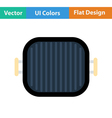 Flat design icon of Grill pan vector image vector image