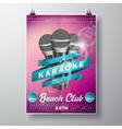 flyer on a summer karaoke party theme vector image vector image
