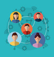 group people internet vector image