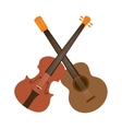 guitar and chello instrument isolated icon vector image vector image