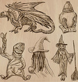 Halloween Monsters Magic - collection vector image
