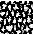 halloween spooky party ghost pattern vector image