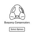 icon buoyancy compensator scuba diving equipment vector image vector image