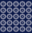 indigo blue hand drawn seamless pattern vector image vector image