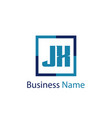 initial letter jx logo template design vector image